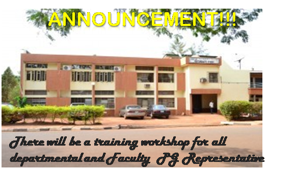 Workshop For All Departmental and Faculty PG Representatives.