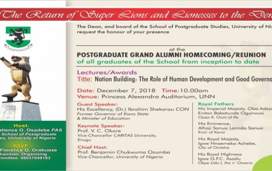 Postgraduate Homecoming