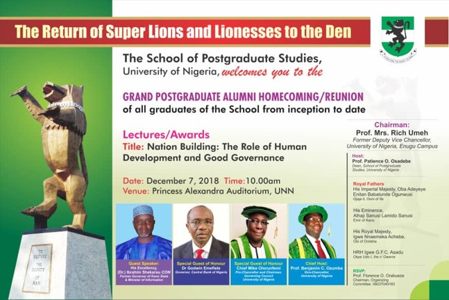 POST REPORT OF OUR POSTGRADUATE GRAND ALUMNI HOMECOMING/REUNION