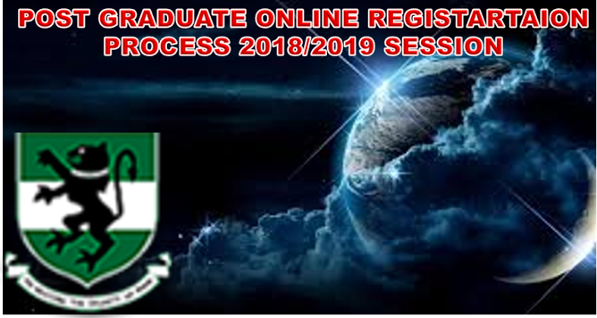 ONLINE REGISTRATION PROCESS FOR THE 2018/2019 ACADEMIC SESSION