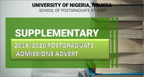 SUPPLEMENTARY 2019/2020 POSTGRADUATE ADMISSIONS